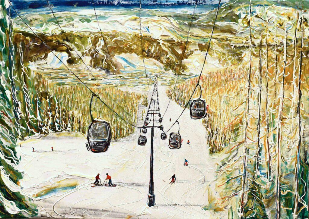 Aspen Ski Poster and Ski Print