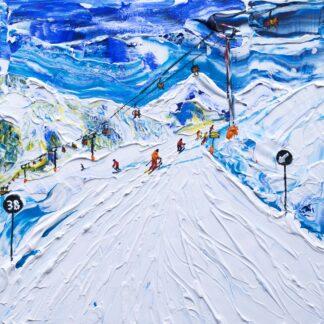 Kitzbuhel Skiing Painting