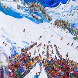 Obergurgl Nederhutte Ski Painting