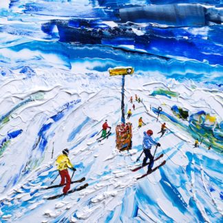 Kitzbuhel Ski Painting and Ski Print