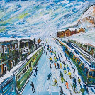 Wengen Skiing Print