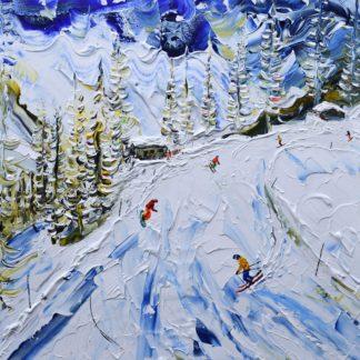 Courmayeur Ski Painting