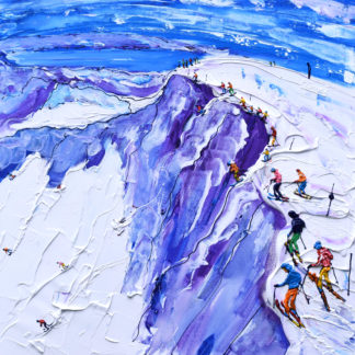 Squaw Valley California Ski Painting