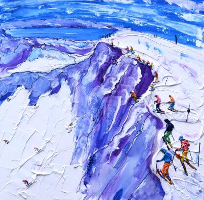 Squaw Valley California Ski Painting
