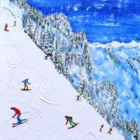 Mayrhofen Skiing Painting