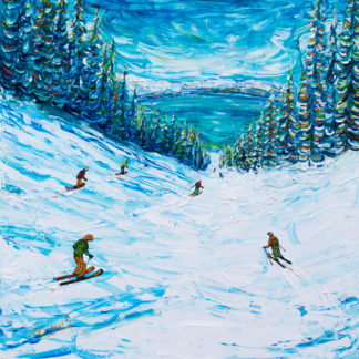 Heavenly Tahoe Skiing Painting
