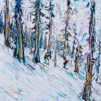 Squaw Valley Ski Painting Tahoe