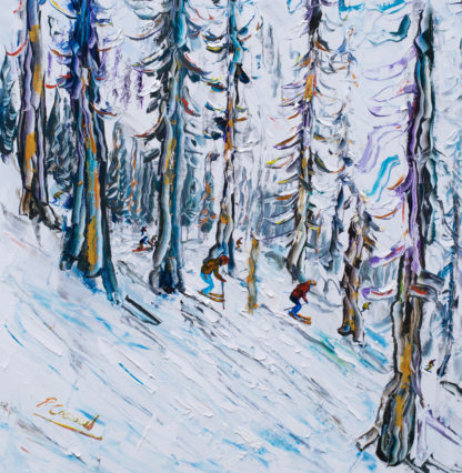 Squaw Valley Ski Painting Tahoe
