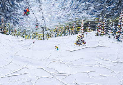 Breckenridge Skier and Boarder Painting