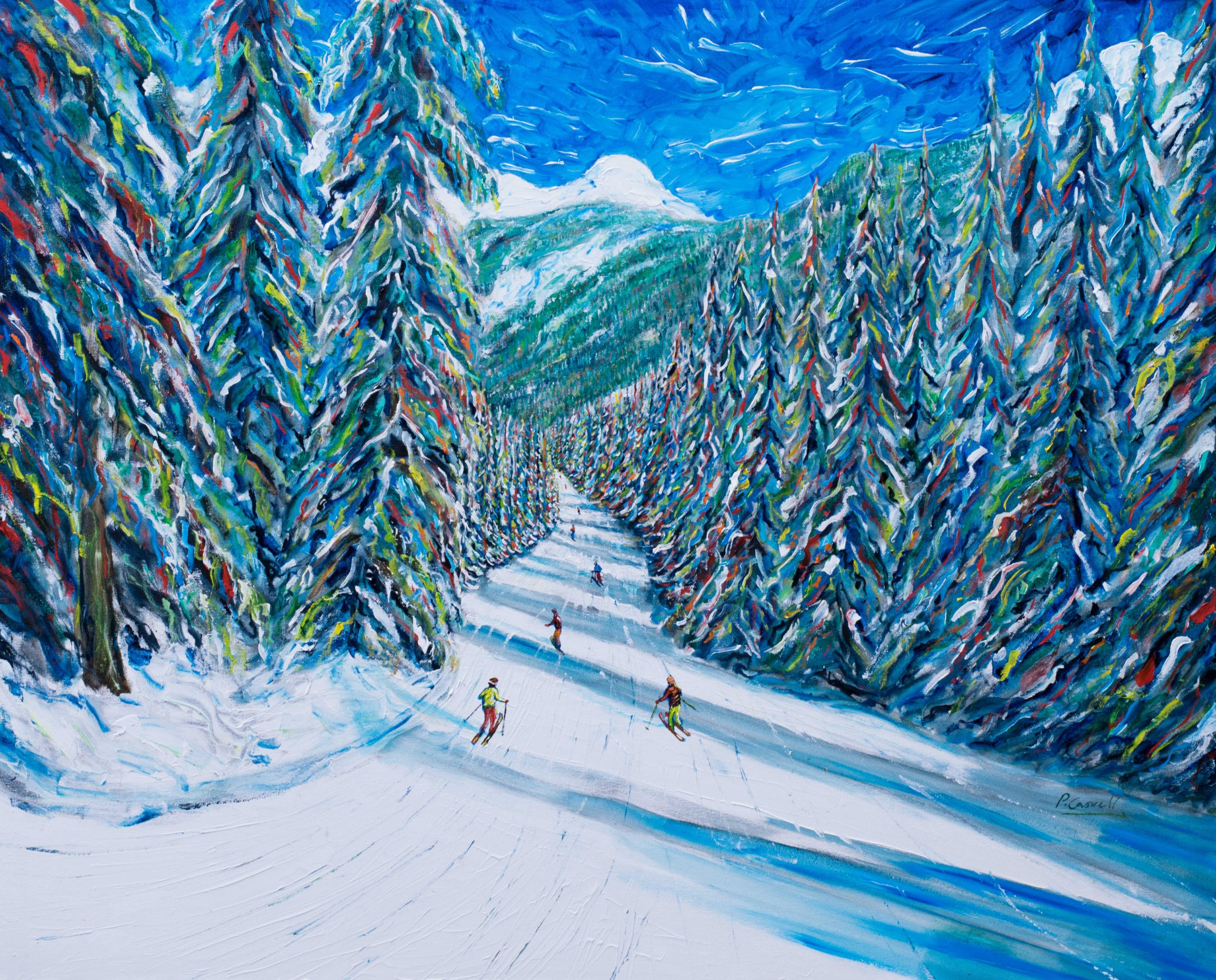 Ski Print and Ski Painting from Morzine