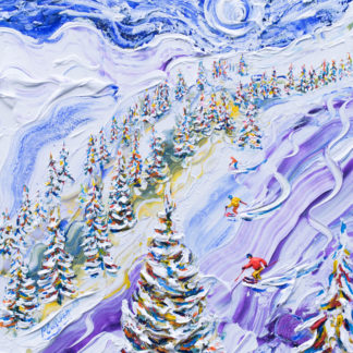 Ski Painting from Les Arcs La Plagne