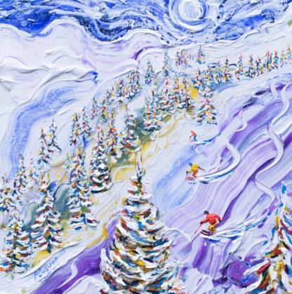 Ski Painting from Les Arcs La Plagne