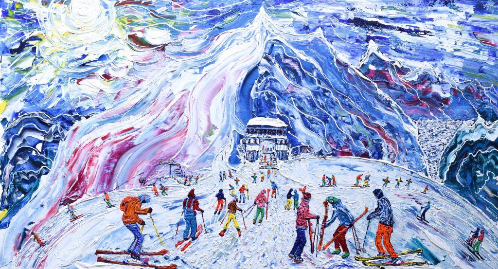 Grande Motte Tignes Ski Print