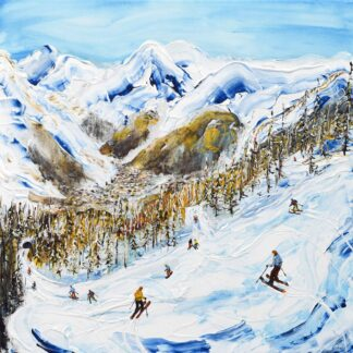 Val d'isere Ski Painting