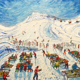 Val d'Isere Cafe ski painting