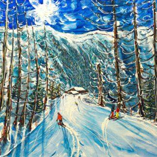 Nendaz Ski Painting