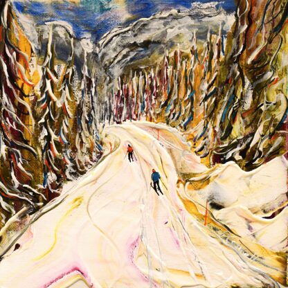 Wengen Ski Print and Ski Painting