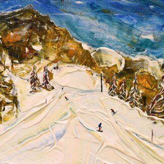 Wengen Eiger Ski Painting