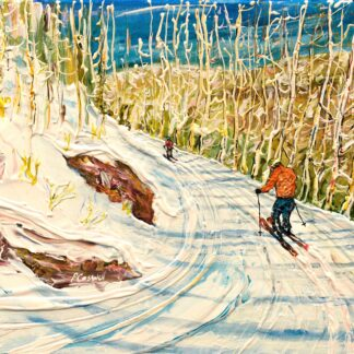 Aspen ski painting colorado