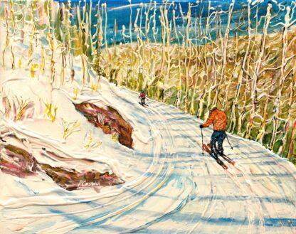 Aspen ski painting colorado