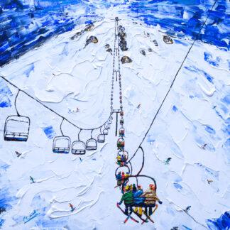 Mammoth Mountain Ski Lift Ski Print