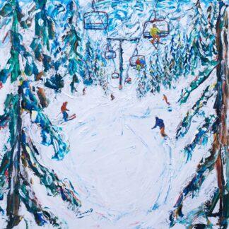 Mt Bachelor Oregon Ski Print