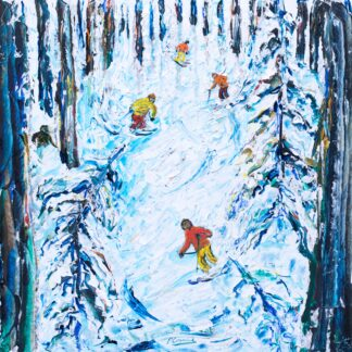 Mt Bachelor Oregon Ski Painting