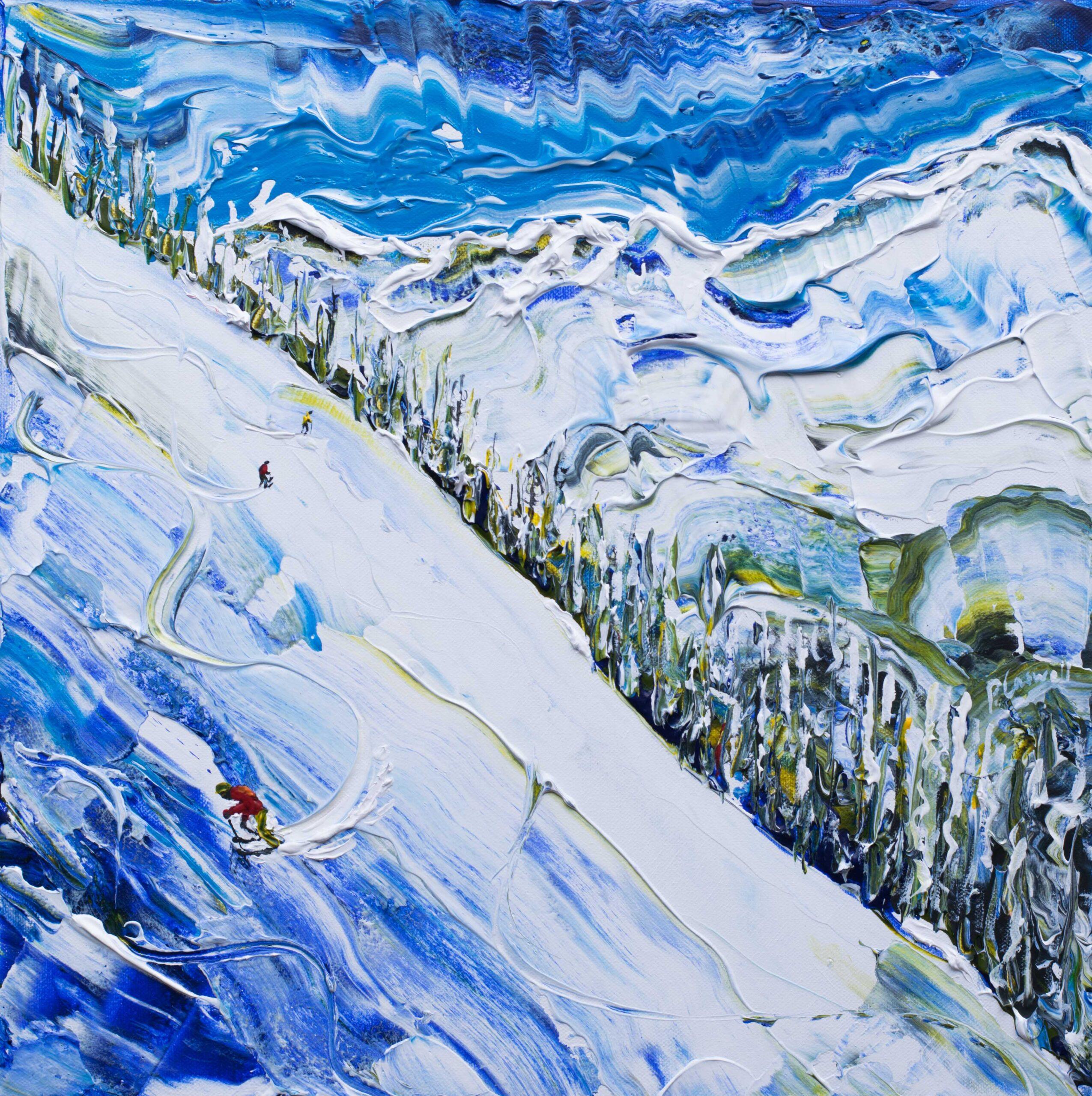 ski poster print harakiri mayrhofen