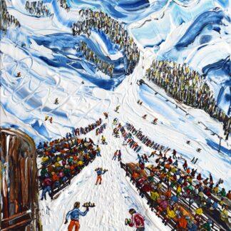 Nederhutte Obergurgl ski painting and ski print