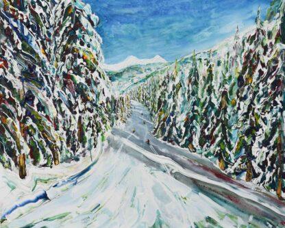 Morzine Portes Du Soleil Ski Painting