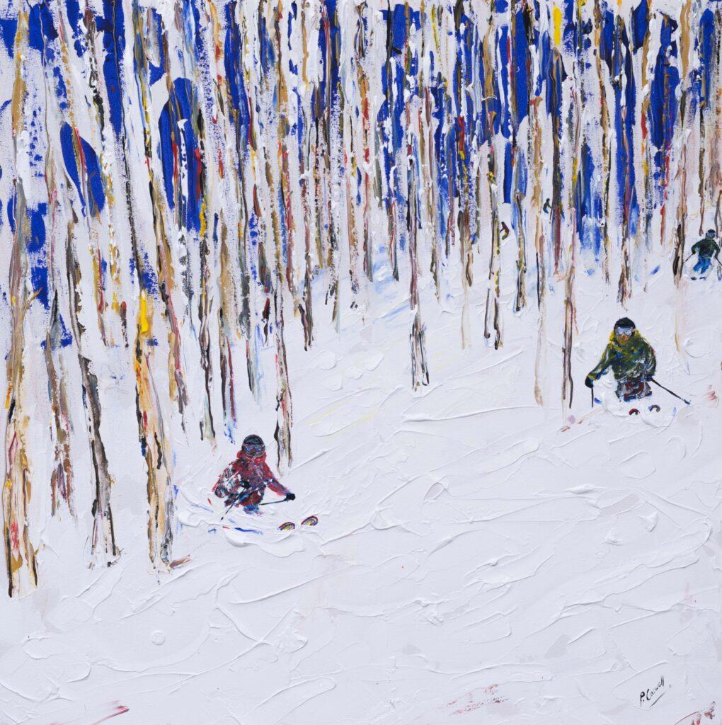 Vail Ski Painting Ski Print