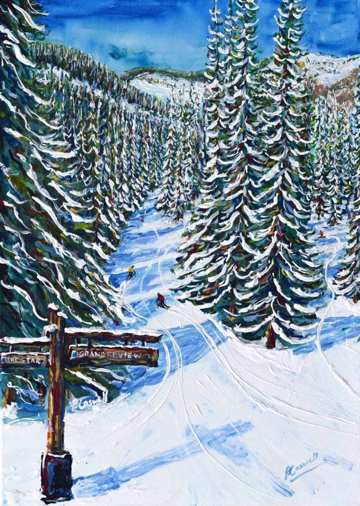 Ski Posters. Vail and Beaver Creek Ski Painting Ski Print