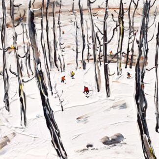 La Grave Les Deux Alpes Ski Painting Ski Print