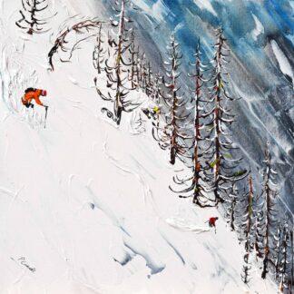Les Deux Alpes La Grave Ski Painting Ski Print
