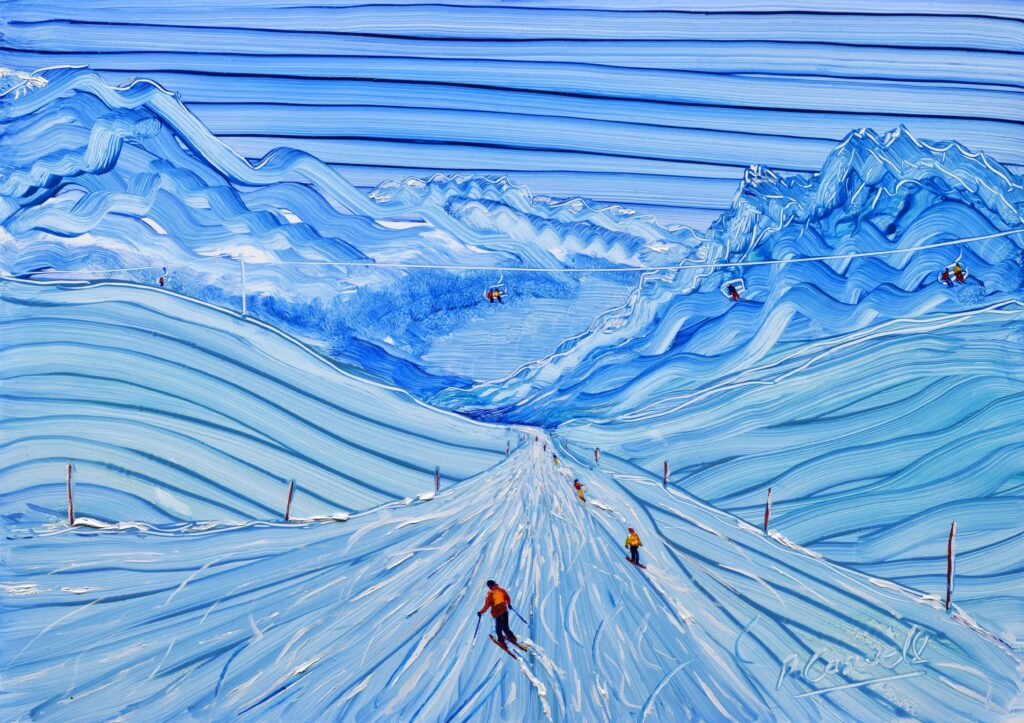 Painting Exhibition of St Moritz Ski Paintings