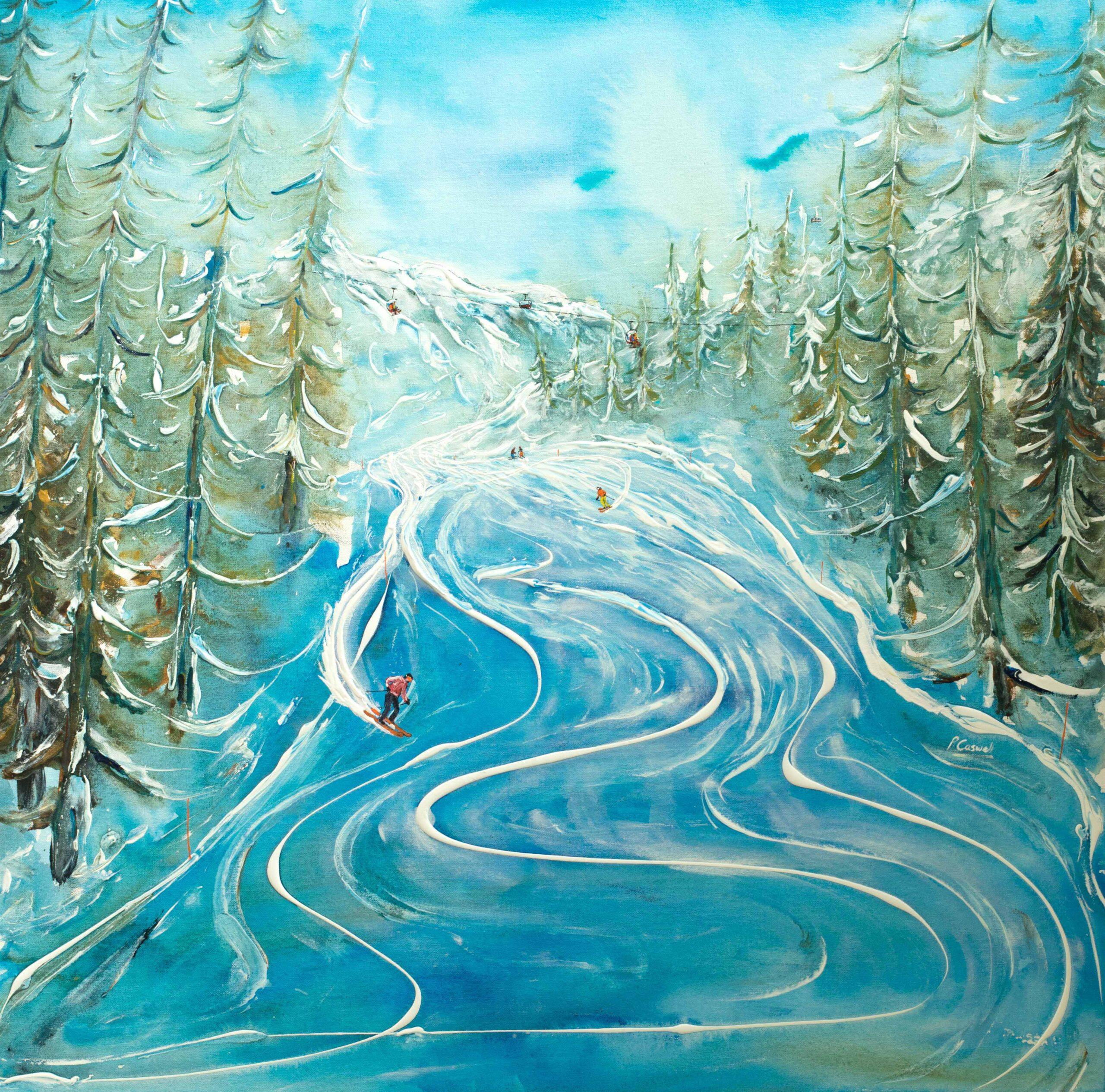 St Moritz Ski Painting Exhibition
