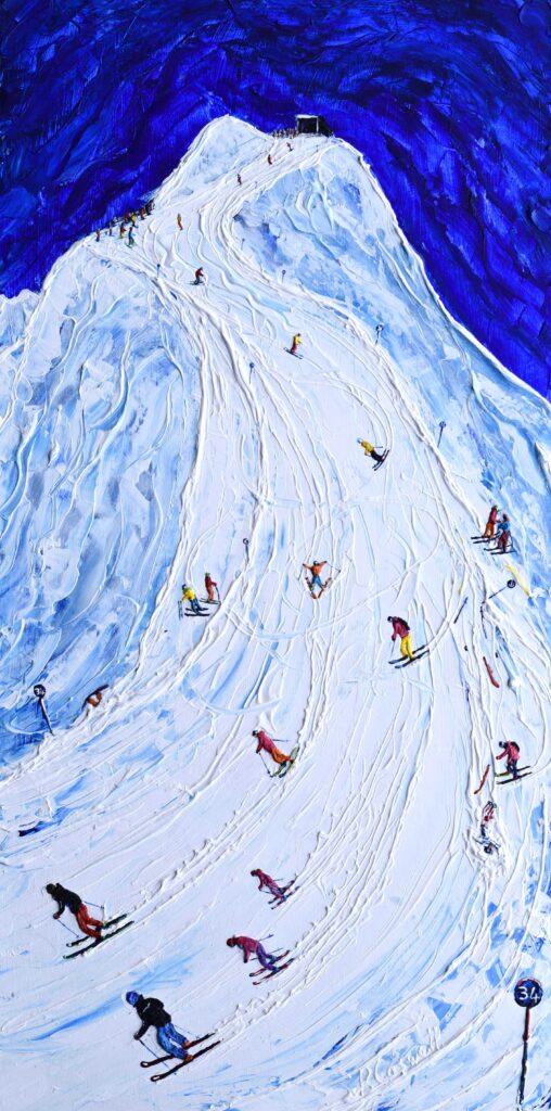 Lech Piste 34 or 200 ski poster ski print