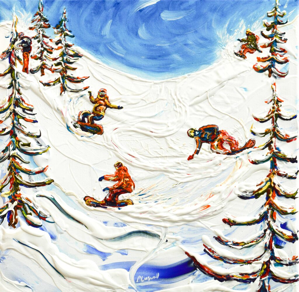 Jackson Hole Snowboard poster and snowboarder print
