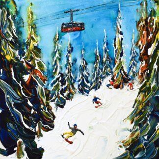 Jackson Hole Ski Art ski poster and ski print