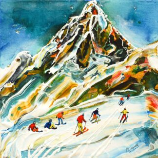 Vintage Ski Posters The Breuil-Cervinia Valtournenche Zermatt Ski art available as ski prints and ski posters