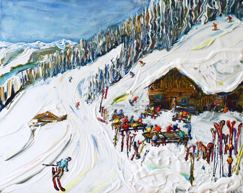 Saalbach Hinterglemm ski art and ski posters and prints
