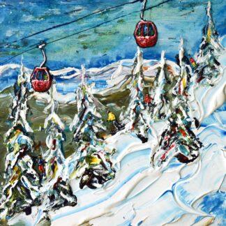 Soll Ski Art available as ski prints and ski posters